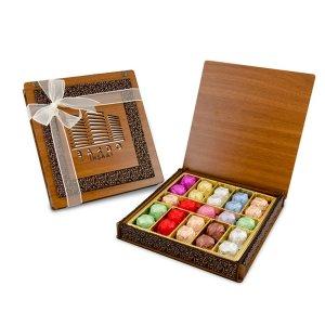 Derili Aynalı Ahşap Kutuda Spesiyal Çikolata