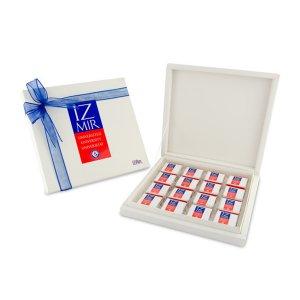 Karton Kutuda 32-lik Logolu Çikolata