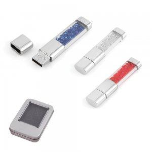 7226-8GB Metal Kristal Taşlı USB Bellek
