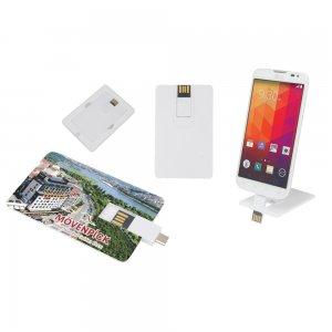 7238-8GB OTG Özellikli Kartvizit USB Bellek