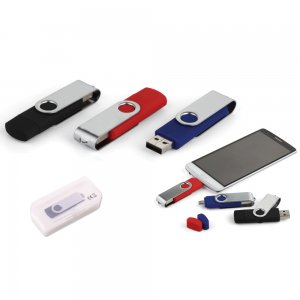 7243-16GB Döner Kapaklı USB Bellek OTG
