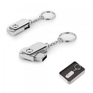 7263-16GB Döner Kapaklı Metal Anahtarlık USB Bellek