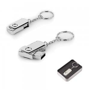 7263-32GB Döner Kapaklı Metal Anahtarlık USB Bellek