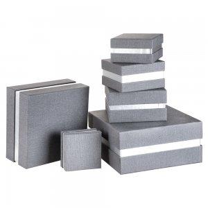 4620-5 Kumaş Kaplamalı Hediye Kutusu ( 21 x 21 x 12 cm )