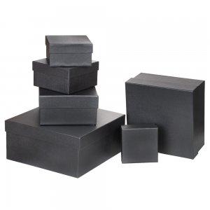 4630-4 Özel Kağıt Kaplamalı Hediye Kutusu ( 16 x 16 x 9 cm )
