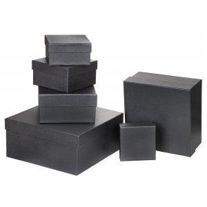 4630-5 Özel Kağıt Kaplamalı Hediye Kutusu ( 21 x 21 x 12 cm )
